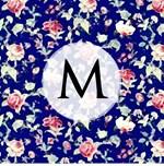 Vintage Rose Floral Monogram