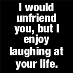 I Would Unfriend You, but I Enjoy Laughing at Your