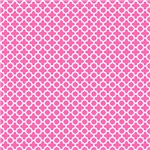 White on Hot Pink Quatrefoil Pattern