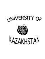 UNIVERSITY OF KAZAKHSTAN