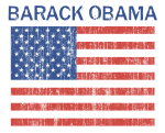 BARACK OBAMA (Vintage flag)