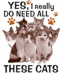 Yes I really do need all these cats - light shirts
