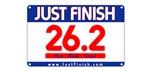 26.2 - Just FINISH bib