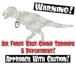Caution Air Force Brat Dino