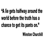 Churchill Lies Truth Quote