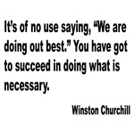 Churchill Necessary Success Quote