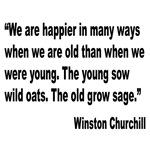Churchill Happy Old Quote