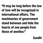 Gandhi Law of Love Quote