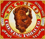 Buffalo Chewing Tobacco Label