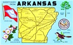 Arkansas Map Greetings