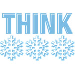 Think Snow Blue