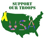 SUPPORT OUR TROOPS PATRIOTISM CLOTHING
