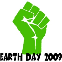 Earth Day green power shirts for a green Earth Day