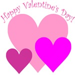 Happy Valentine's Day Hearts Trio T-shirts & Gifts
