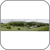 Farm Panoramic Tile Coasters