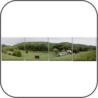 Farm Panoramic Tile Coasters