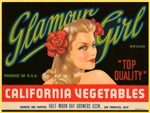 Glamour Girl Fruit Crate Label