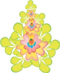 Lime Yellow Fantasy Floral