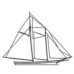 Schooner Sailboat Logo