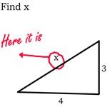 find x funny math