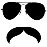 mustache with glasses