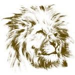 Vintage lion head