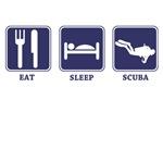 eat sleep scuba diving