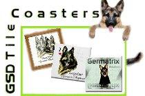 German Shepherd Tile Coasters