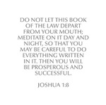 Do not let this Book of the Law depart from your m