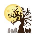 Creepy Halloween Tree Graveyard