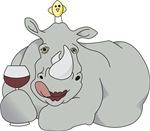 Rhinoceros with Wine