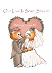 Beary Special Love Bride and Groom Teddy Bears