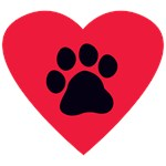 Heart and Paw Print Design
