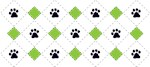 Argyle Paw Prints Design