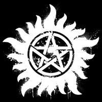 Anti-Possession Symbol White (Splatter)