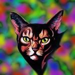 Cat Portrait Watercolor Style