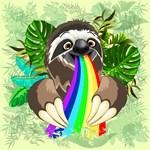 Sloth Spitting Rainbow