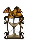 Dragon on Hourglass