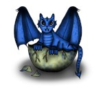 Dragonbaby blue