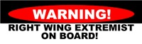 Waring! Right Wing Extremist On Board!