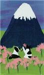 Dog, Cat and Mt Fuji
