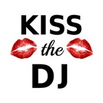 Kiss the DJ with red lipstick traces
