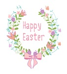 Happy Easter laurel wreath
