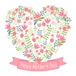 Happy Mothers day, flower heart