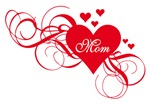 Red heart Mother's day