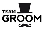 Team groom hat mustache