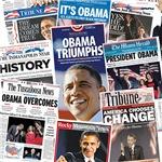 Obama Victory Headline Collage