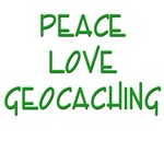 Peace Love Geocaching - Green