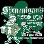 Shenanigan's Irish Pub (dark shirts)