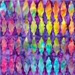 Retro tie dye diamonds
